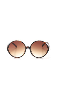 City Chic Round Sunglasses - Tortoise