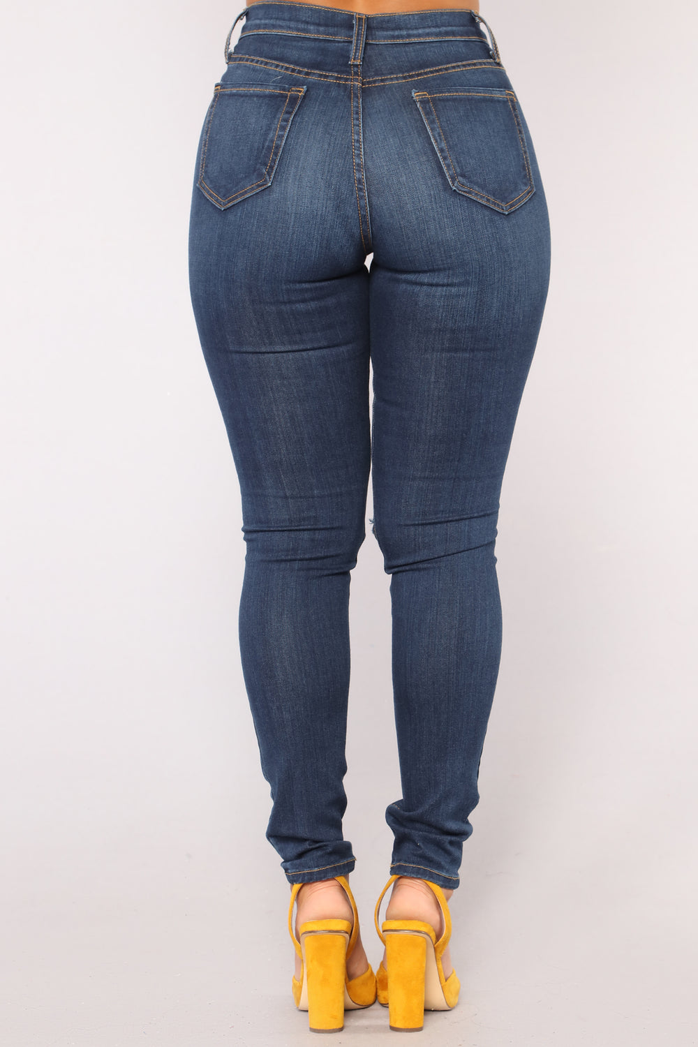 Back At It Skinny Jeans - Dark Denim