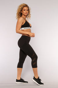 Can't Stop Me Leggings - Black