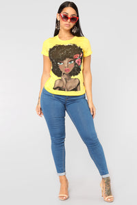 Her Favorite Tee - Yellow