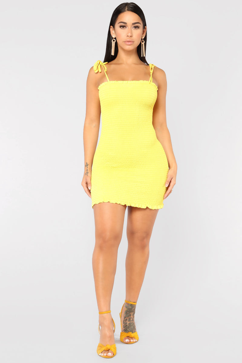 6a2aaa77e9f5 I m Dreamin  Dress - Yellow
