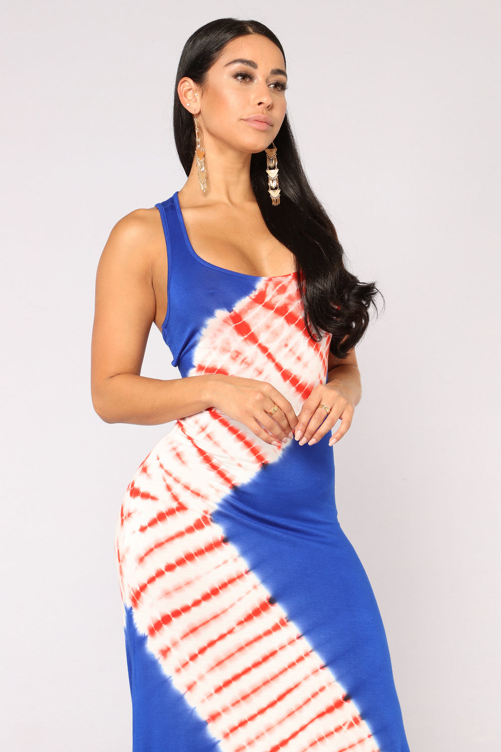Tie Dye Daze Dress - Royal