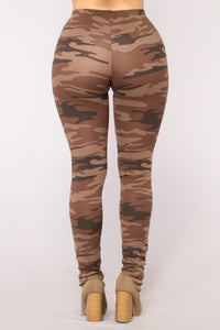 Hidden Ties Camo Basic Leggings - Camo