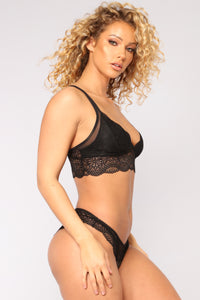 Lauren Bra And Panty Set - Black