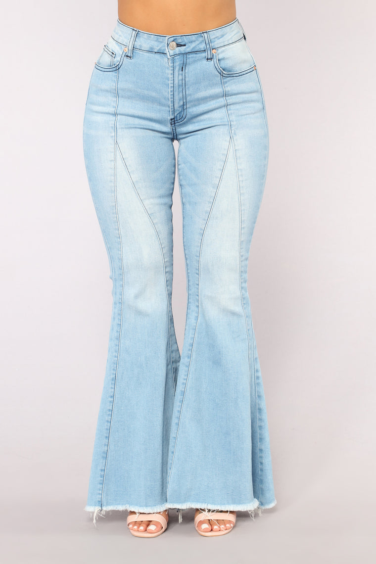 Dustine Ring My Bell Flare Jeans Light Blue Wash