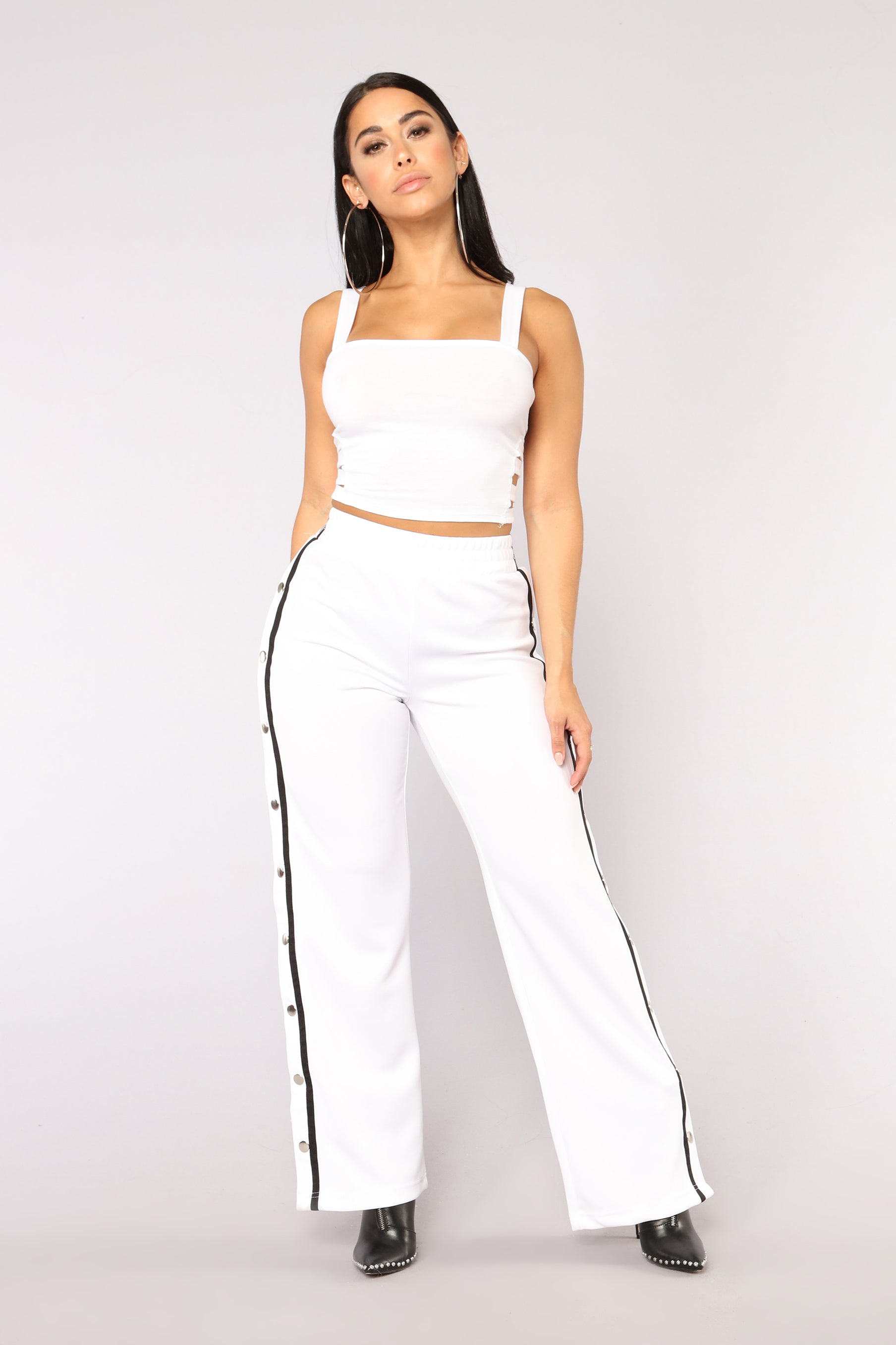 f69d0922f0ffb0 You re Cut Off Crop Top - White