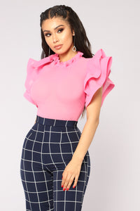Evening Glow Blouse - Pink