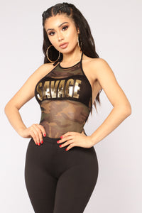 Always Savage Camo Bodysuit - Camo