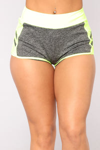 Never Last Place Active Shorts - Yellow