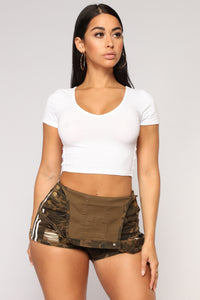 No Stopping Me Now Crop Top - White