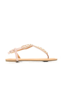 Lost Somewhere Sandals - Nude