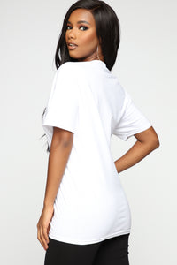 All The Feels Tunic Top - White