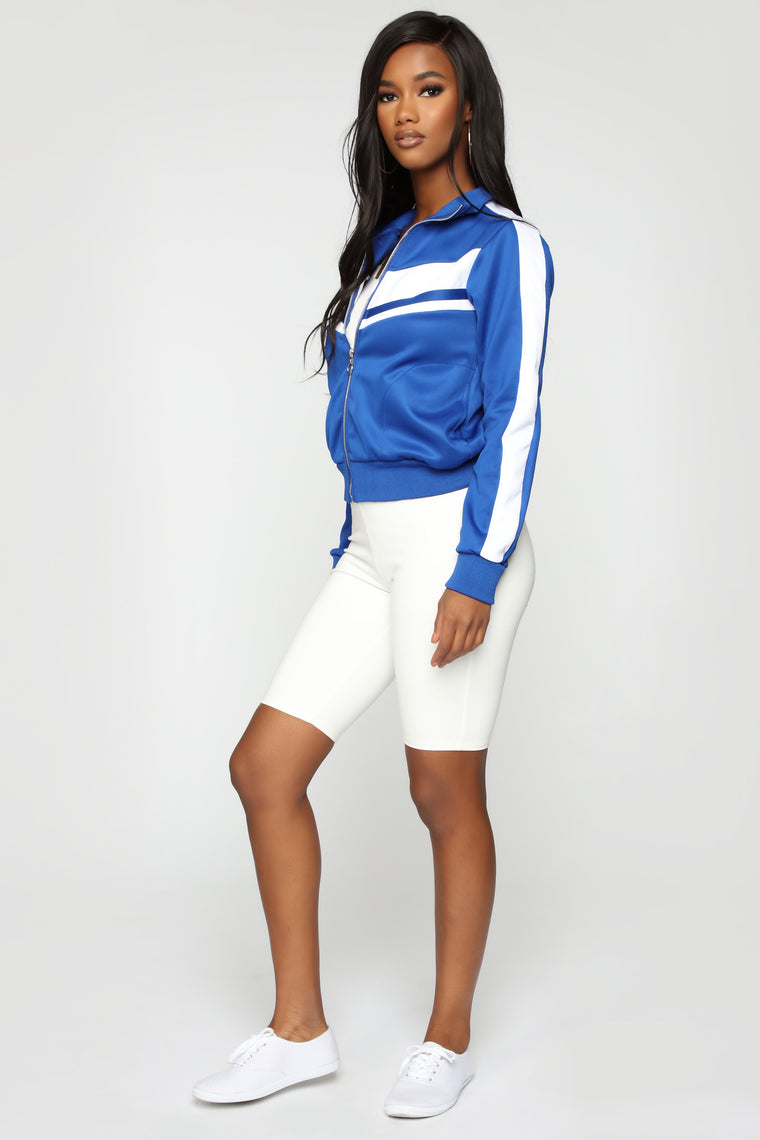 She Knows Best Track Jacket - Blue