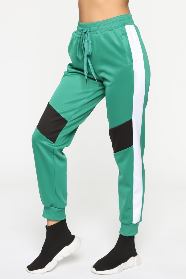 On My Game Track Pants - Green