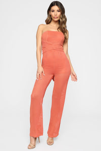 Tamera Tube Jumpsuit - Coral Angle 1