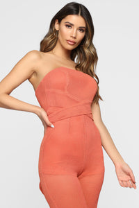 Tamera Tube Jumpsuit - Coral Angle 2