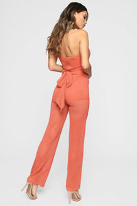 Tamera Tube Jumpsuit - Coral Angle 5