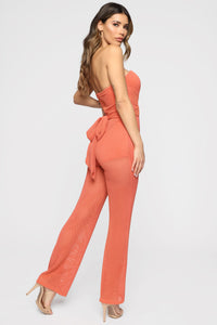 Tamera Tube Jumpsuit - Coral Angle 3