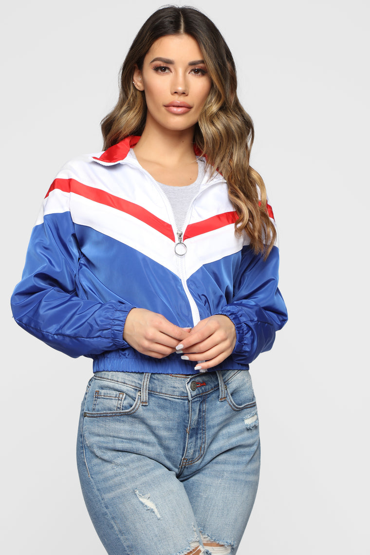 Looking Fly Windbreaker Jacket   White by Fashion Nova