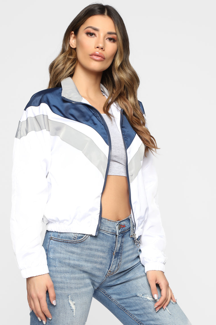 Looking Fly Windbreaker Jacket - Navy