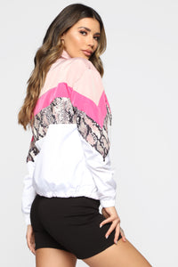 Out Of This World Windbreaker Jacket - Mauve