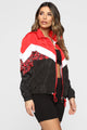 Out Of This World Windbreaker Jacket - Red