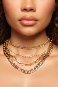 Chainz On Chainz Necklace - Gold
