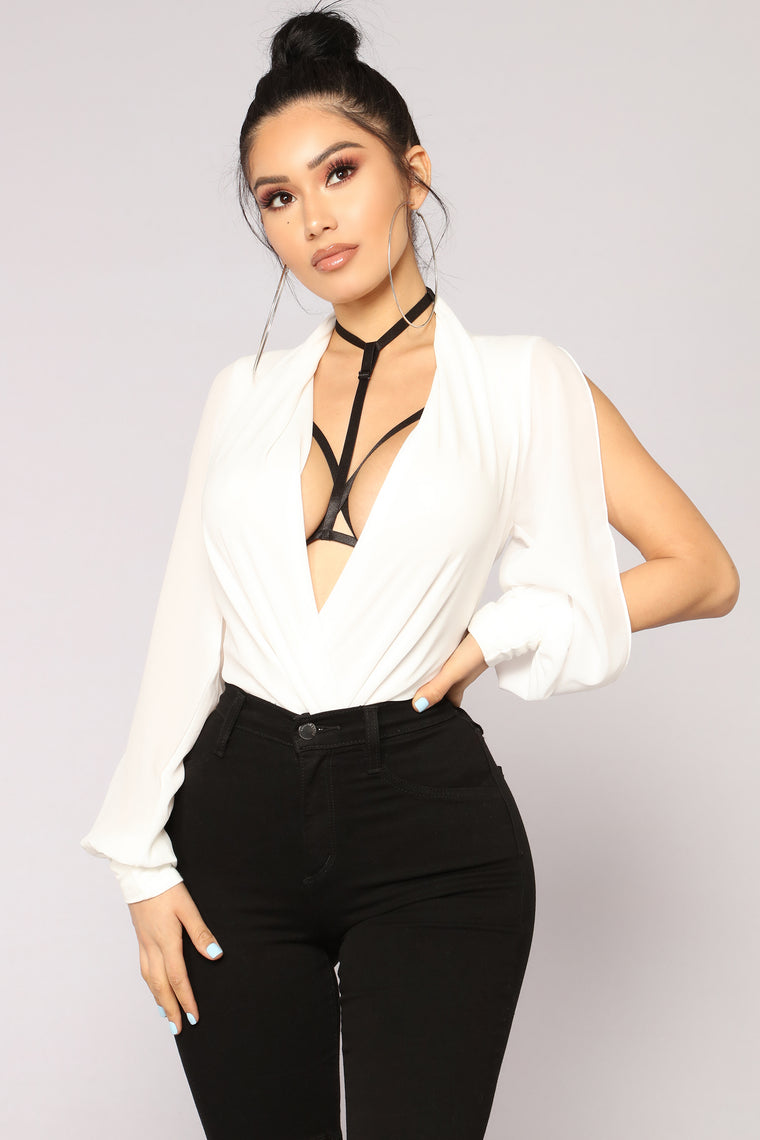 Cheatin' Hearts Bodysuit - Ivory