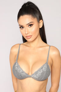 Don't Over Do It Bralette - Grey