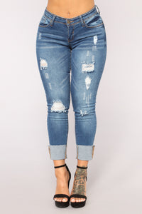 While We're Young High Rise Jeans - Medium Blue Wash