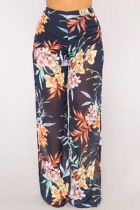 Tropical State Of Mind Pants - Navy/Multi