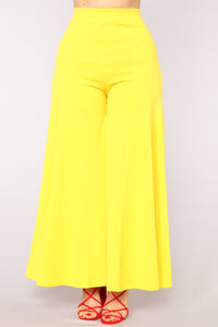 Dare To Flare Pants - Yellow