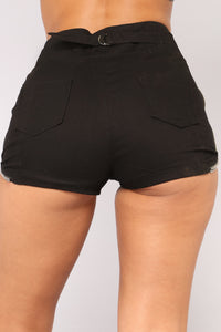 Can't Zip Me Shorts - Black Angle 6