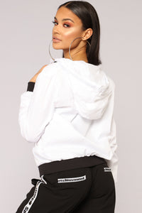 Bad Reputation Windbreaker - White