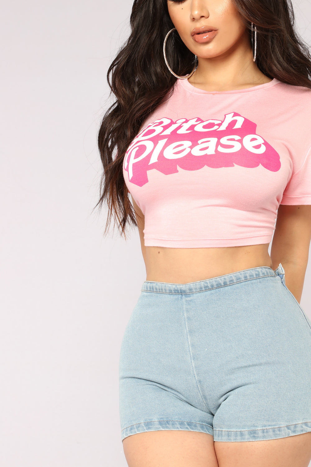 Don't Call Me Baby Crop Tee - Pink