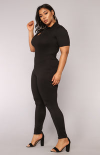 Queen Of Hearts Jumpsuit - Black Angle 9