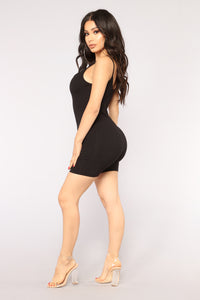 Cat Like Reflexes Romper - Black