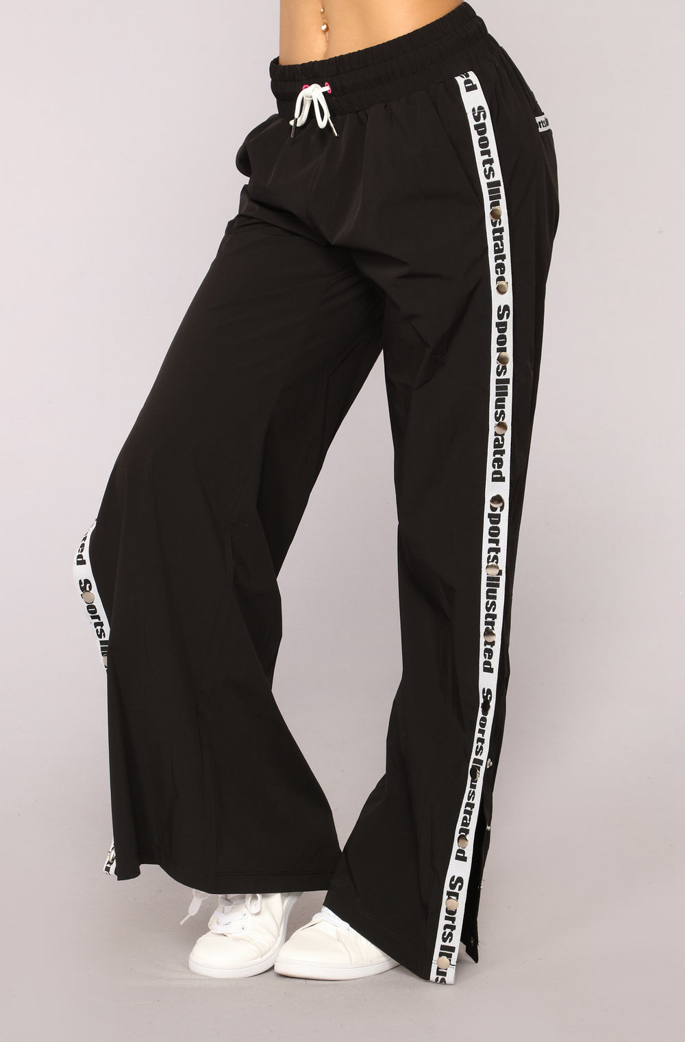 Sports Illustrated Snap Side Pants - Black