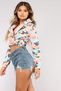 Popin' My Bubble Gum Jacket - Pink/Blue