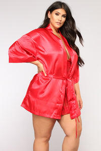 Lotus Robe - Red Angle 5