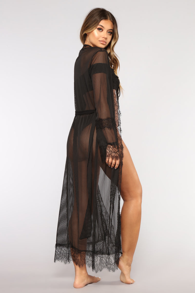 Sheer Love Cover Up - Black