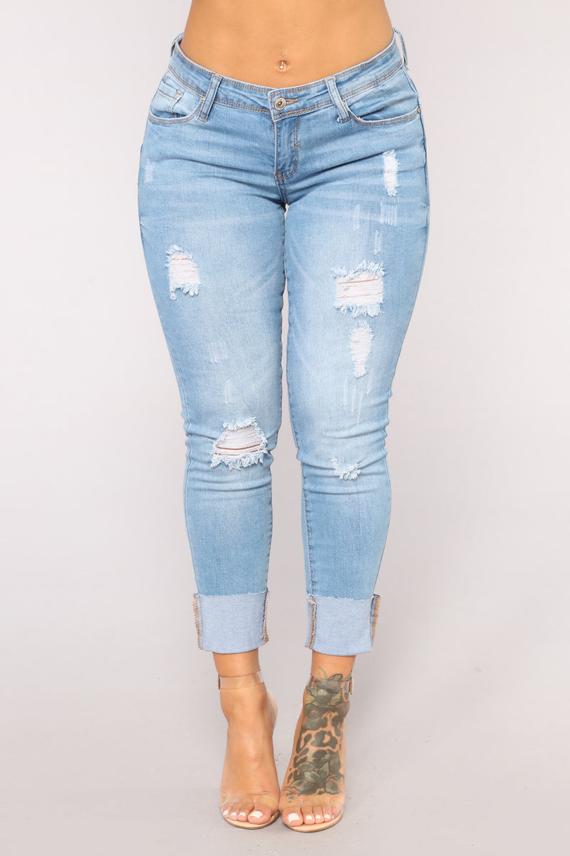 While We're Young High Rise Jeans - Light Blue Wash