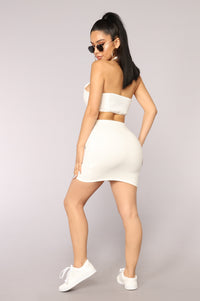 Mi Corazon Halter Top - White