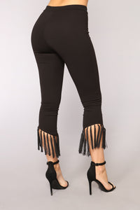 Modern Woman Fringe Set - Black