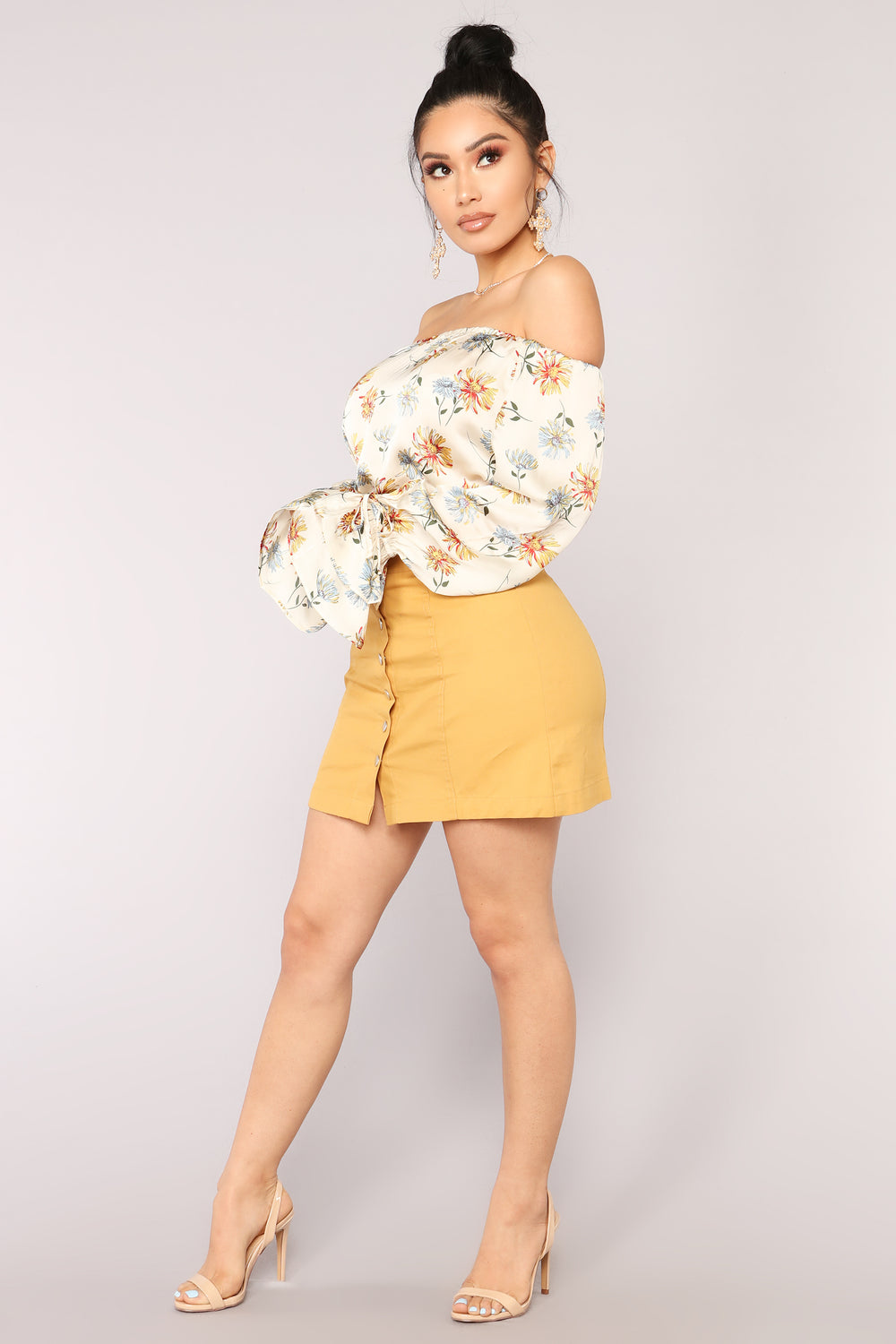 Spring Time Fever Top - Ivory/Combo