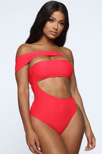 Try Me Swimsuit - Red Angle 1