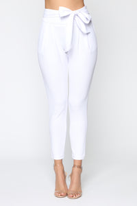 Booked And Busy Pants - White Angle 2