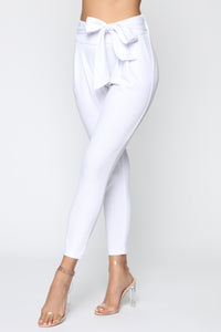 Booked And Busy Pants - White Angle 4