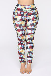 Valley Girl Floral Pant set - MultiColor