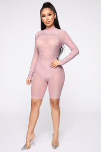 All Eyes On Me Romper - Mauve